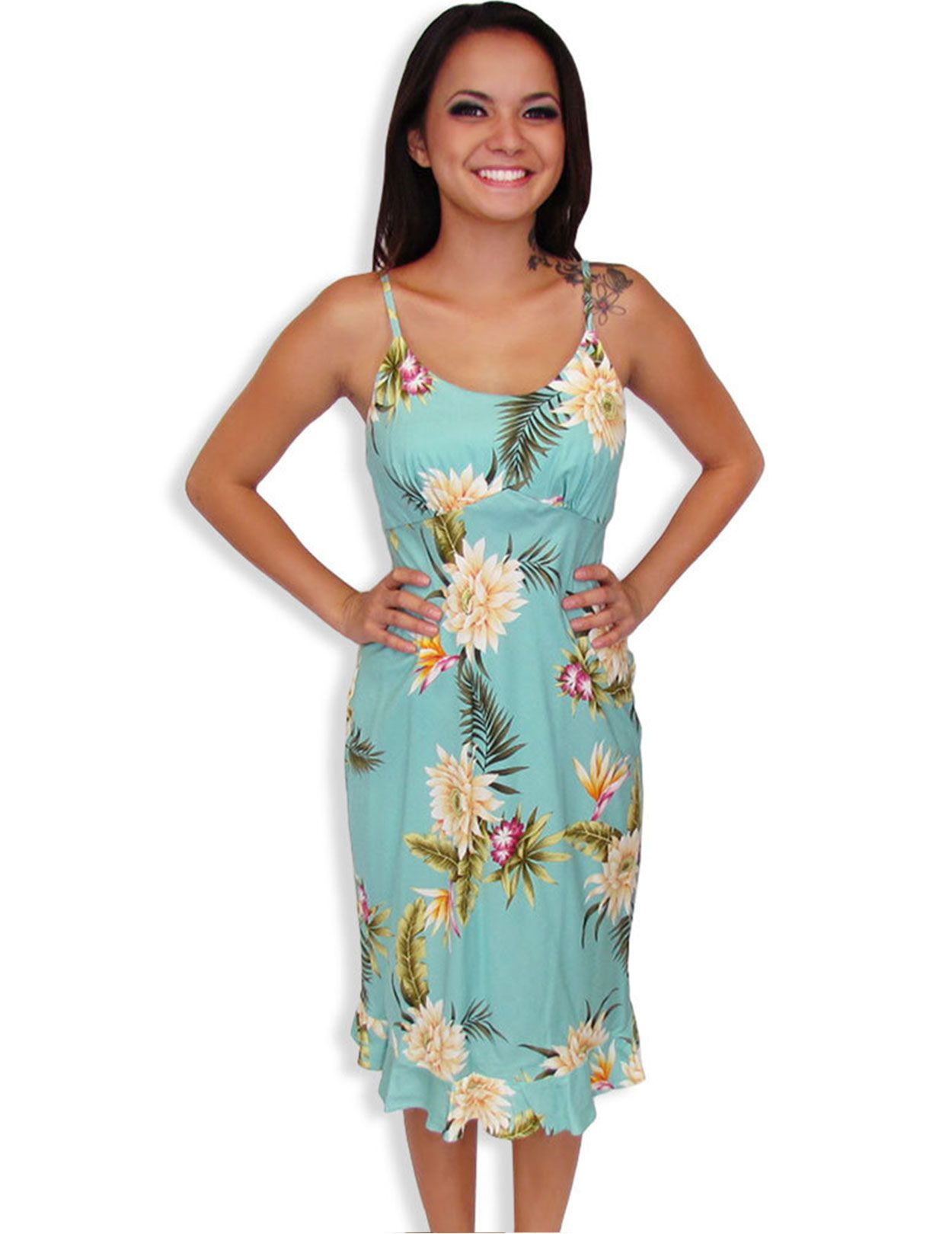 eb728b00939 Shop from Hawaii Spaghetti Straps Hawaiian Dress Island Ceres at Shaka Time  Hawaii Clothing Store