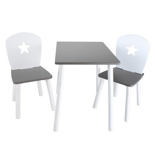 ensemble table + 2 chaises enfant - 55 x 40 x h 50 cm - 30 x 29 x ... - Location Table Et Chaise