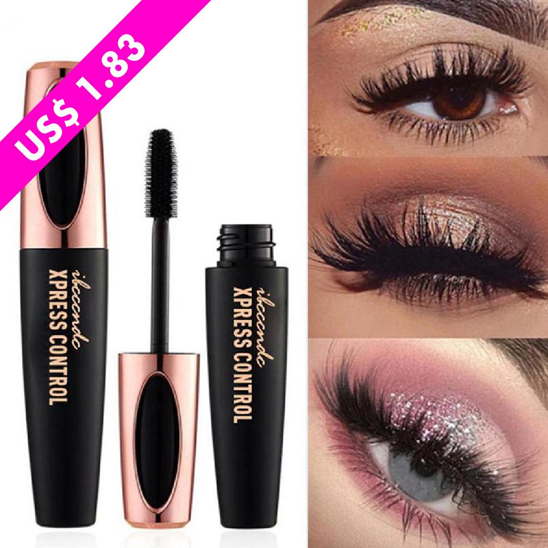 2871d666643 4D Silk Fiber Eyelash Mascara, Extra Long Lash Mascara Waterproof Not  Blooming Curling Natural Eye Makeup Long Lasting. Makeup,Beauty,Waterproof