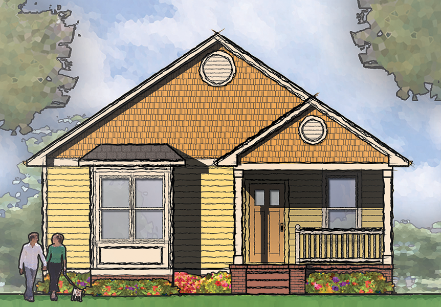 Narrow Lot Bungalow House Plan