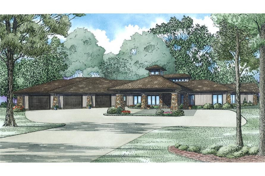 3 Bedrm 4183 Sq Ft Contemporary House Plan 153 2005 In 2020 Contemporary House Plans Contemporary Style Homes Modern Contemporary House Plans