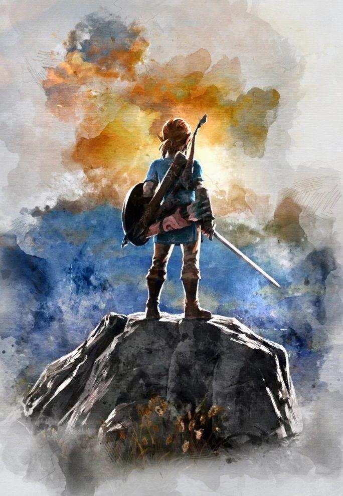 Link Legend Of Zelda Metal Poster Gab Fernando Displate Legend Of Zelda Poster Legend Of Zelda Breath Zelda Art