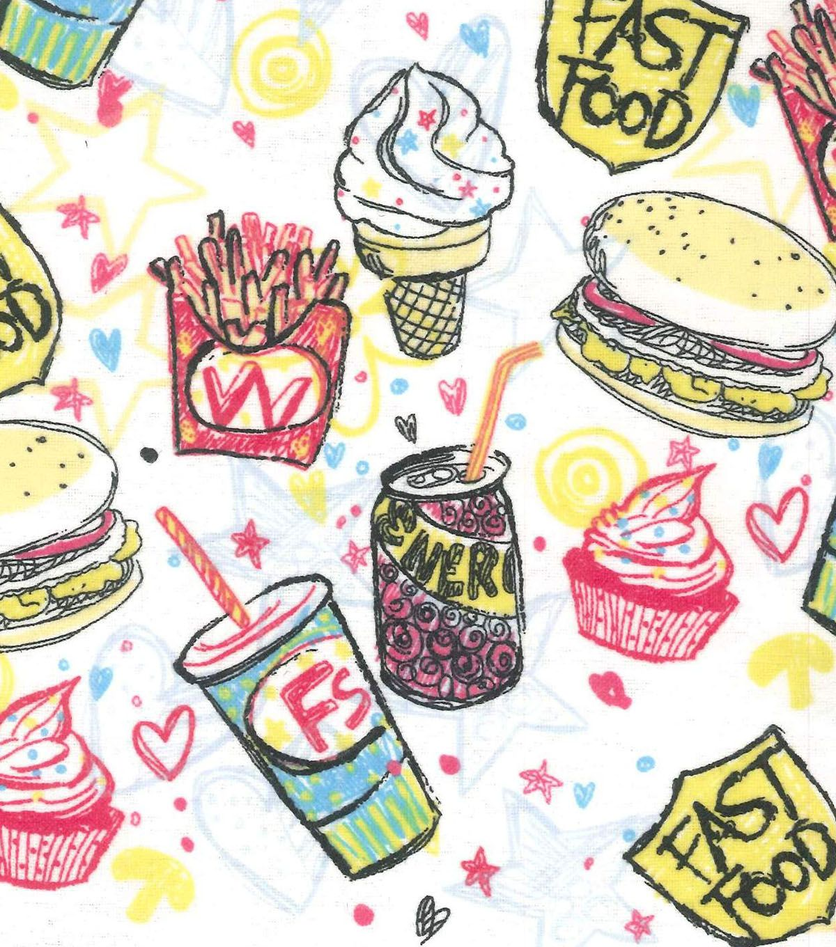 Snuggle Flannel Fabric- Fast Food | Pajamas | Pinterest