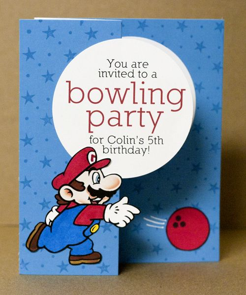Saving money Mario birthday party, Bowling party and Birthdays - bowling invitation