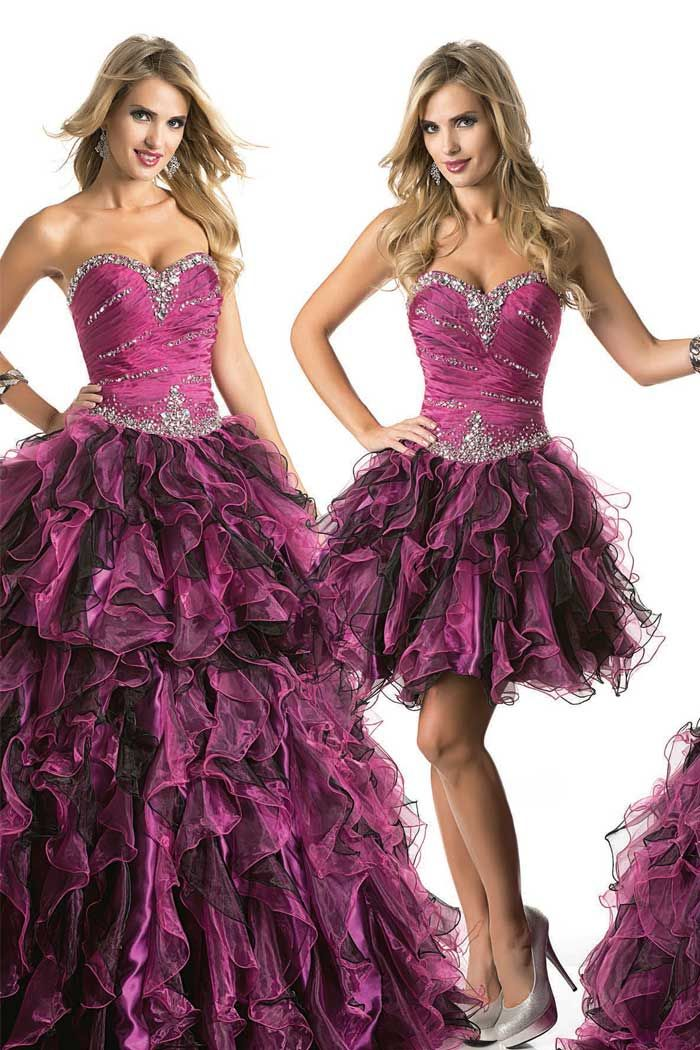 Ruffled Quinceanera Dresses With Removable Skirt | Shawna's ...