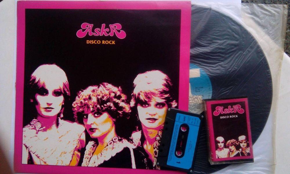 ASKA Disco Rock 1982 LP Record and Cassette YUGOSLAVIA Vinyl Jugoton