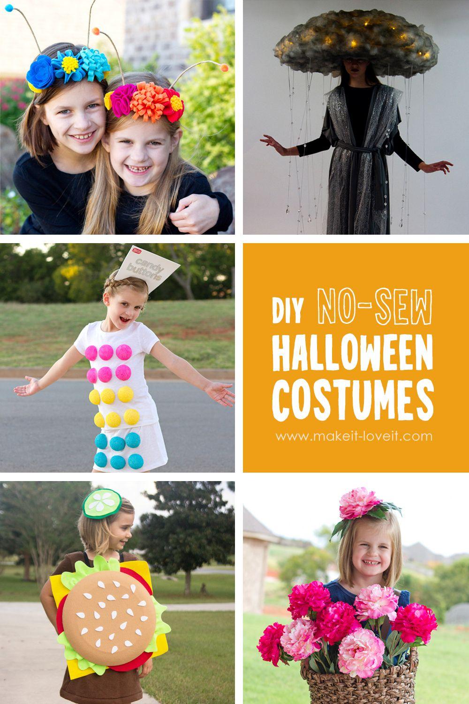 Top 12 Diy No Sew Halloween Costume Ideas Sew Halloween Costume Homemade Halloween Costumes Halloween Costumes