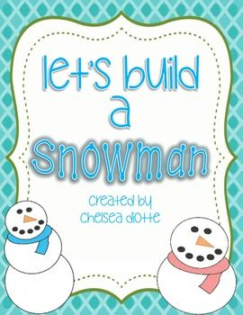 let 39 s build a snowman following conditional directions free speech therapy activities pinterest. Black Bedroom Furniture Sets. Home Design Ideas
