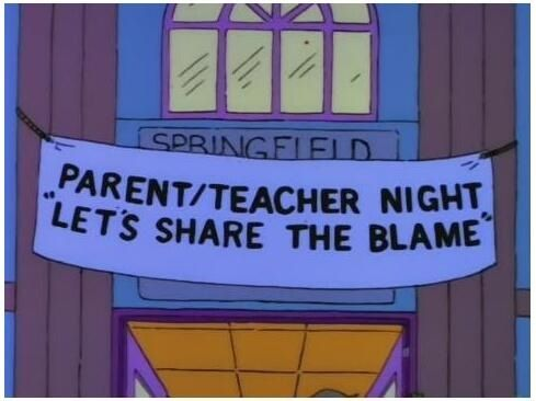 The Simpsons Parents evening