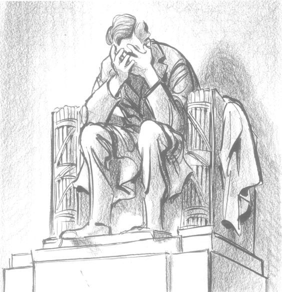 Iconic Political Cartoon By Bill Mauldin That Appeared In The