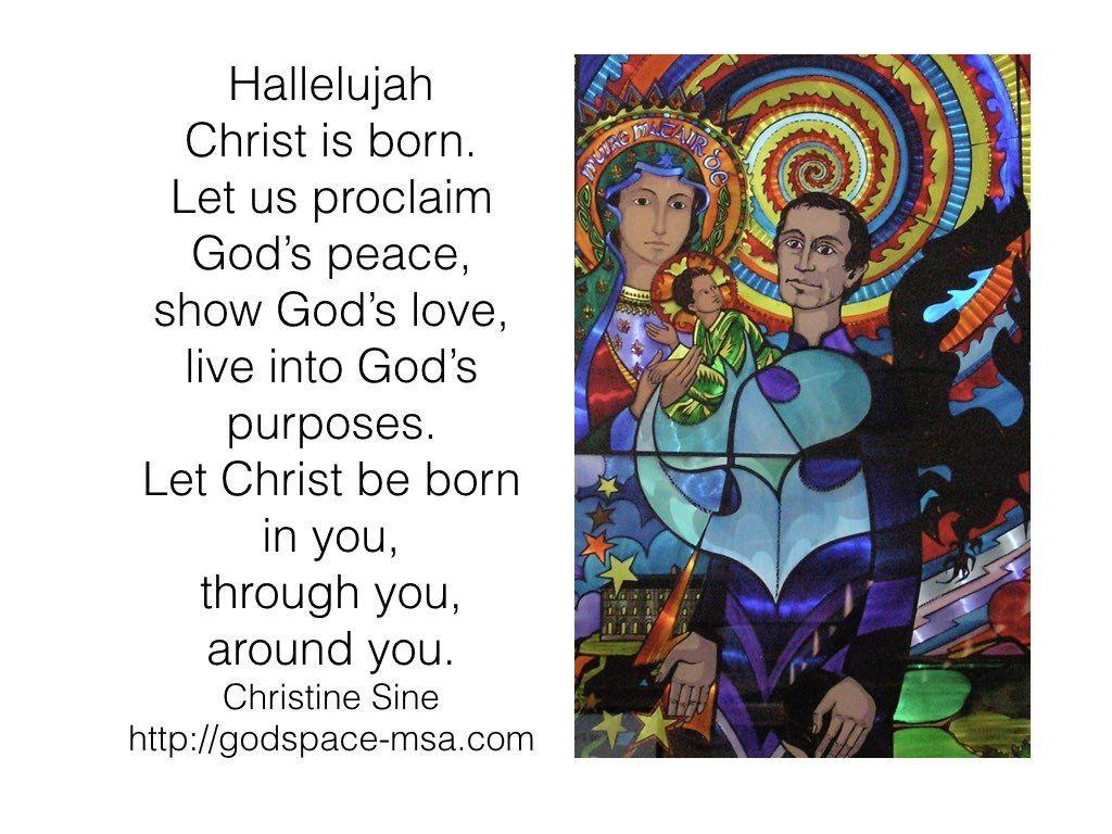 Hallelujah Christ is Born Christ, Peace of god, Gods love