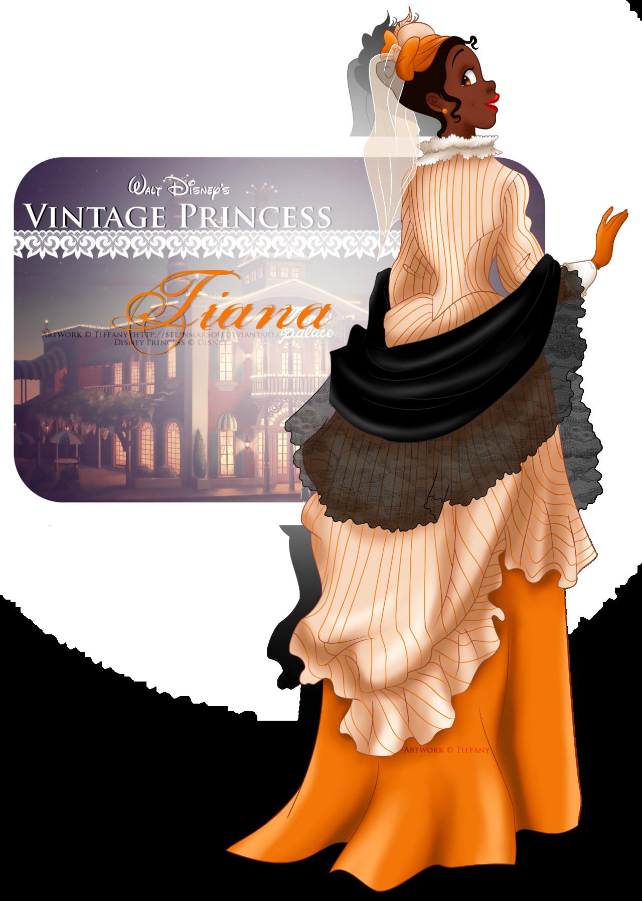 Vintage Princess -Tiana by selinmarsou.deviantart.com on @deviantART
