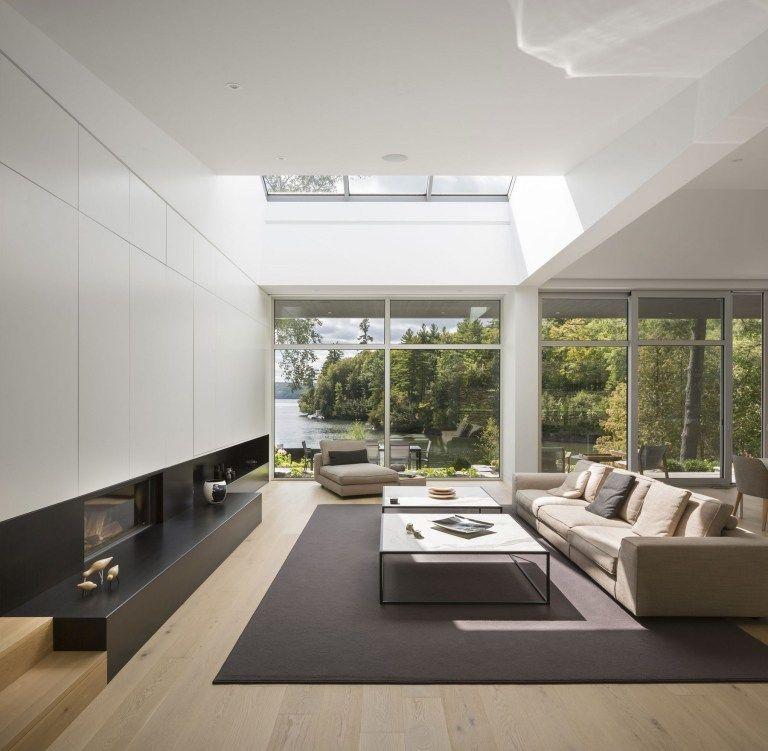 Lake House Living Room Decor: 30+ Modern Lake House: Living Room Tour