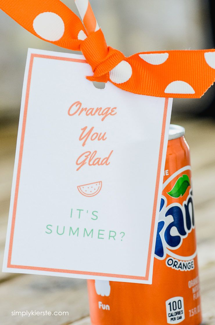 Orange You Glad Its Summer Fun Summer Gift Idea