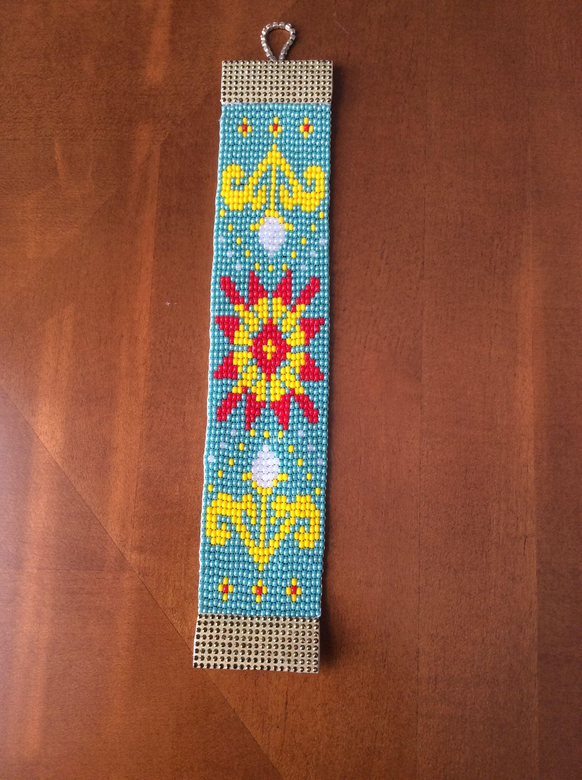 Pin by Guzen on Bead loom pattern Beaded bracelet