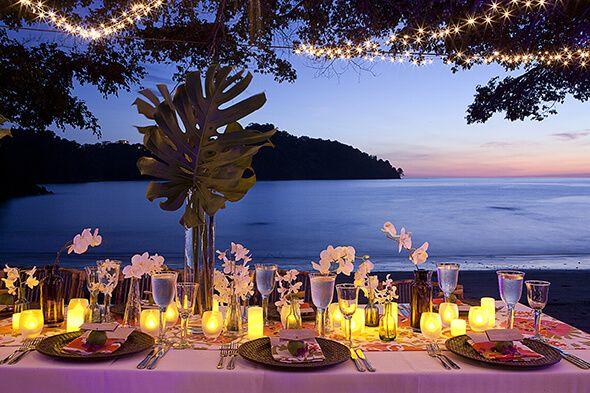 Wedding Beach Night Dinner Ideas Beach Wedding Reception Tables Night Beach Weddings Beach Destination Wedding