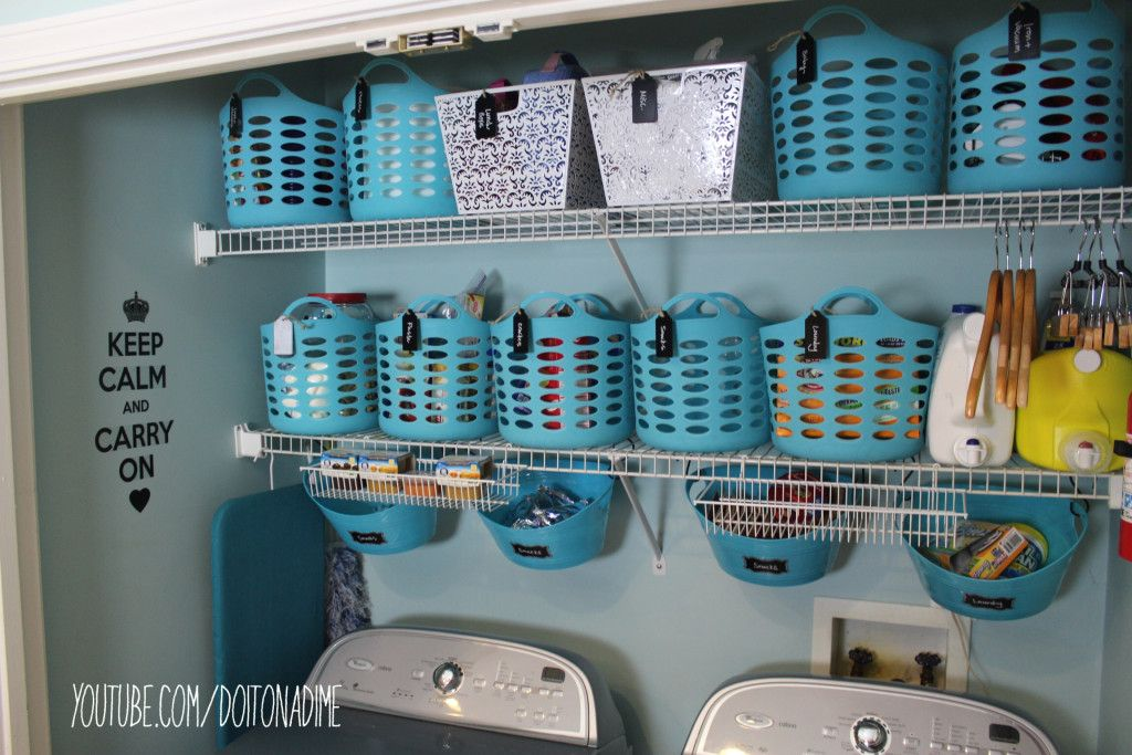 Laundry Room Organization With ALL Dollar Tree Products