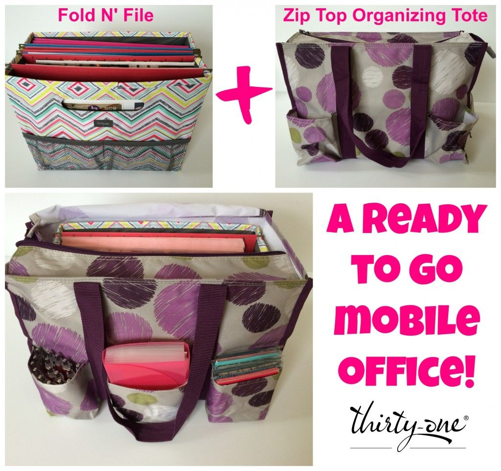 Mobile Office With A Thirty One Zip Top Organizing Utility Tote Www