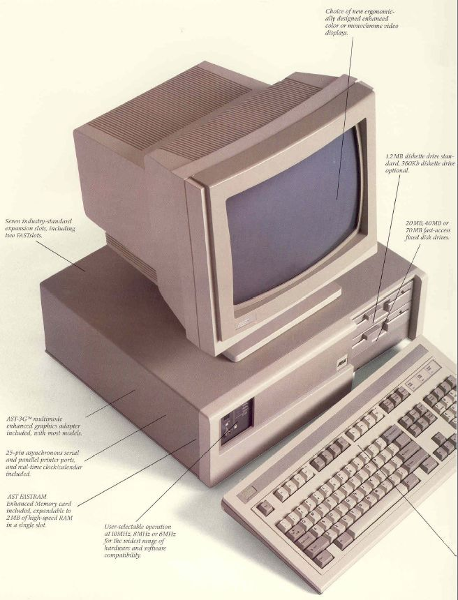 Ast Premium 286 The First Pc I Had On My Desk At Work Years