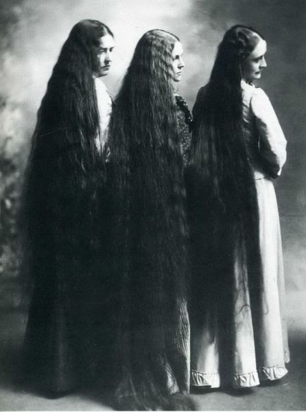 The Sullivan Sisters known for their long locks.
