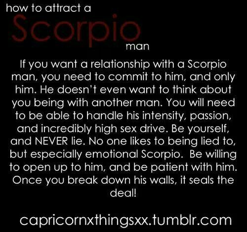 How to woo a scorpio man commit