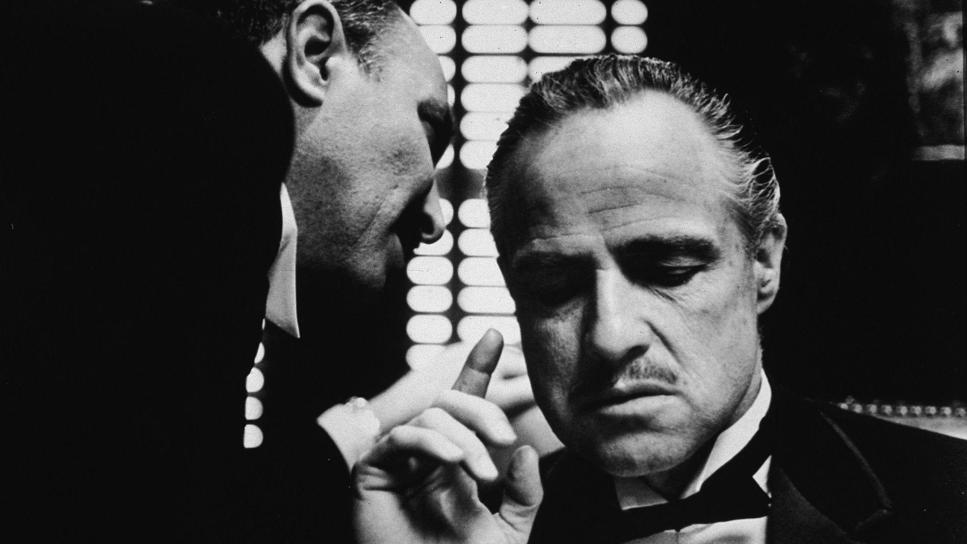 Movies The Godfather Monochrome Vito Corleone Marlon Brando