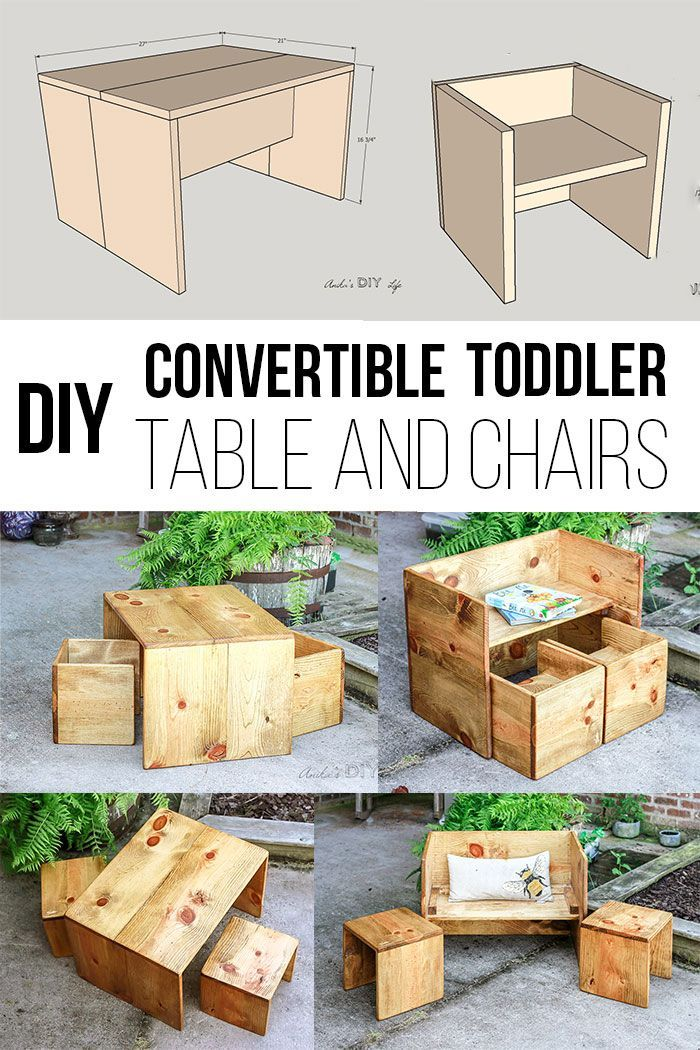 Photo of Convertible DIY Toddler Table and Chair Set – With Plans