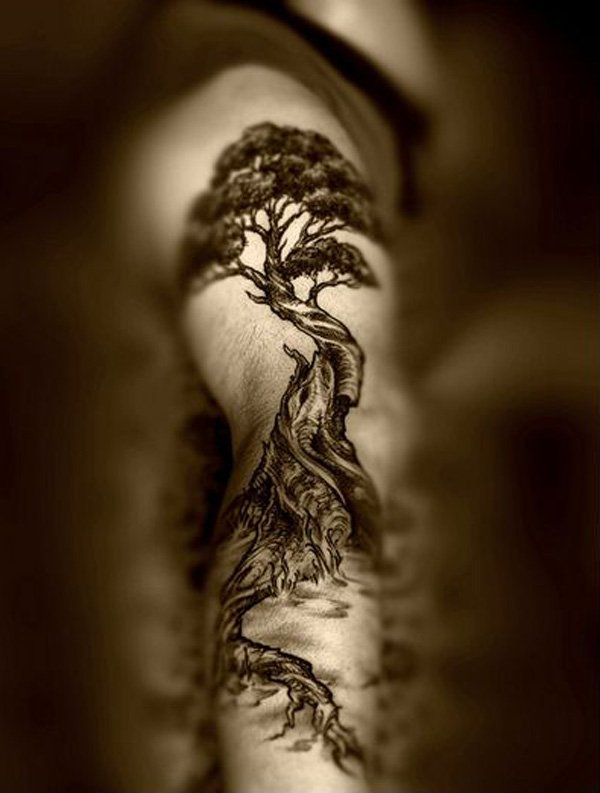 60 tolle baum tattoo designs tattoo grundlagen. Black Bedroom Furniture Sets. Home Design Ideas