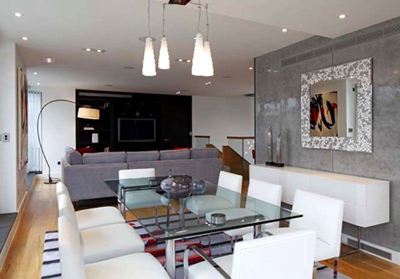 Modern Urban Chic Penthouse Apartment Interior Design With Pendant