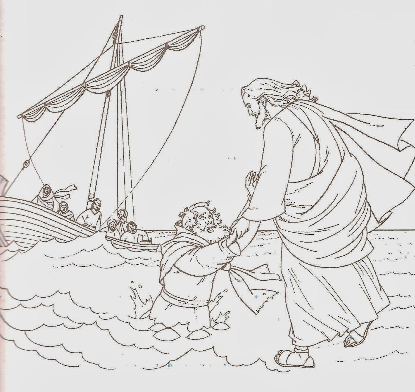 Pin En Jesus Camina Sobre Las Aguas