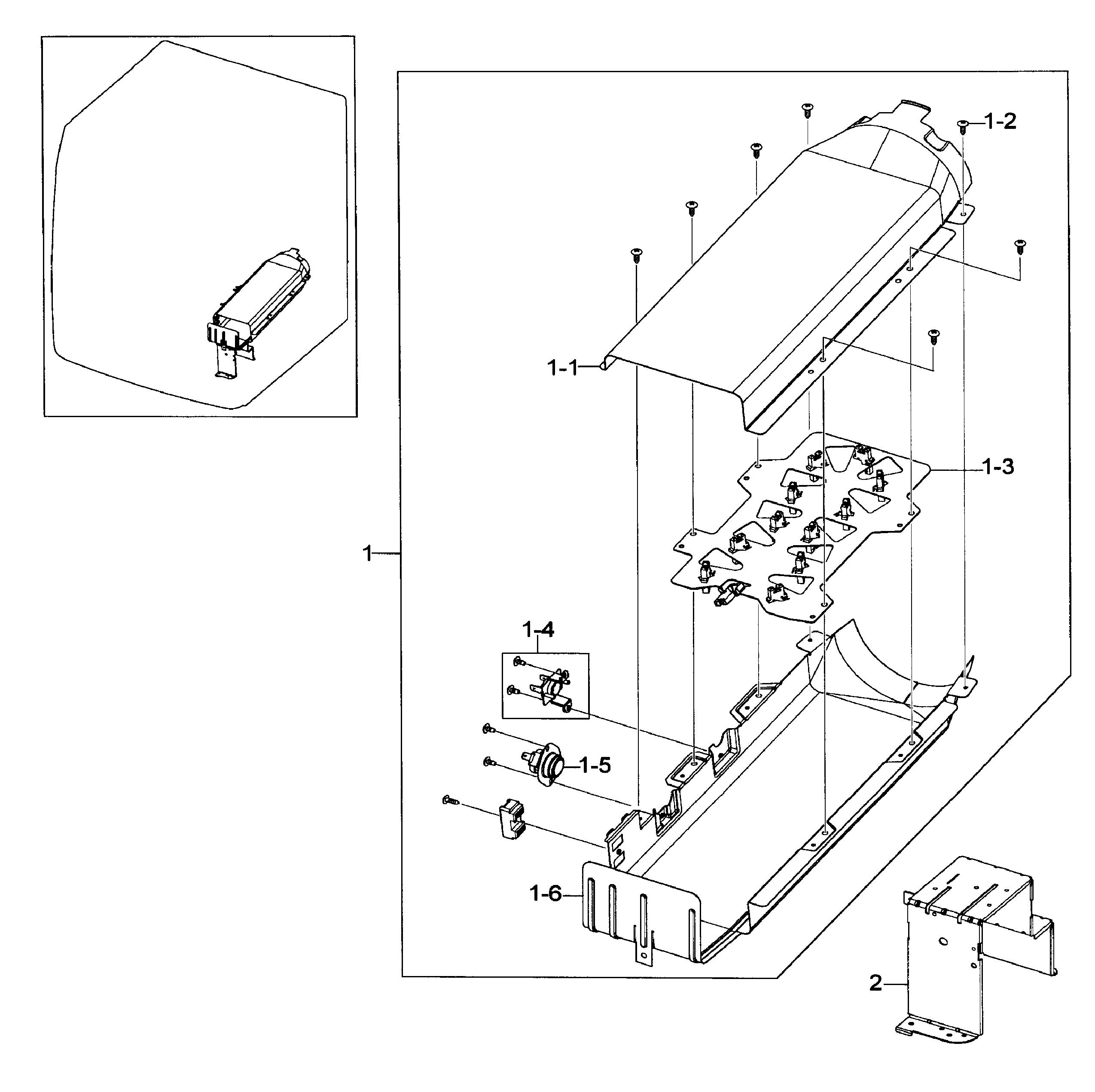 Heater Assy Diagram Amp Parts List For Model Dv419aeuxaa