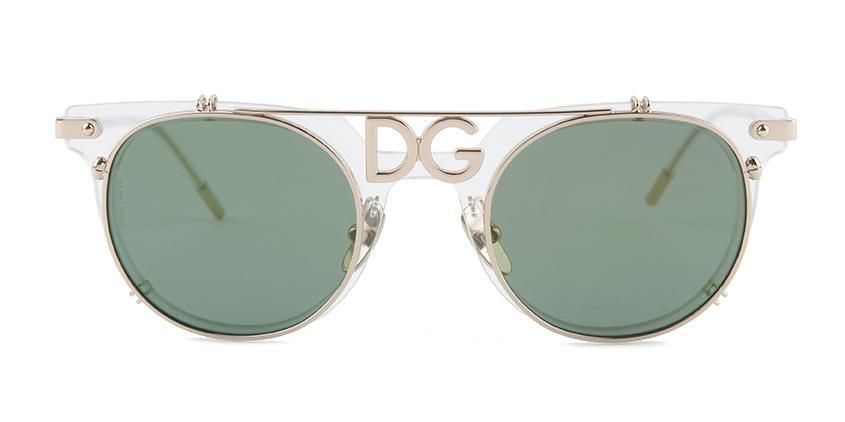 2268fc8dcb03 Dolce Gabbana DG2196 Gold Clear   Green Lens Mirror Sunglasses – shadesdaddy