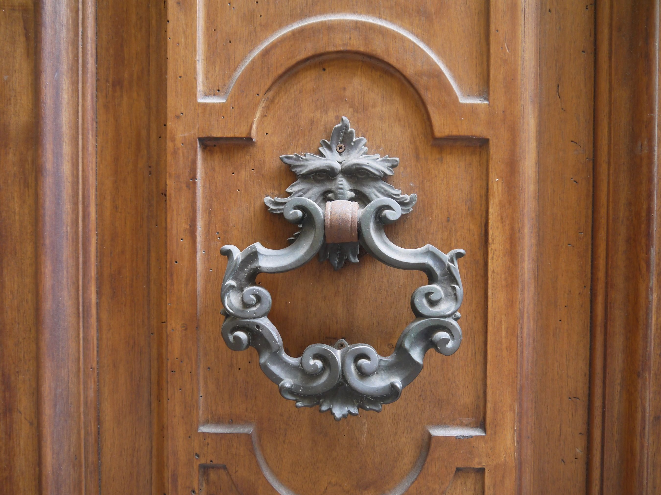 Italy - where the door knockers seem to come straight from the labyrinth...