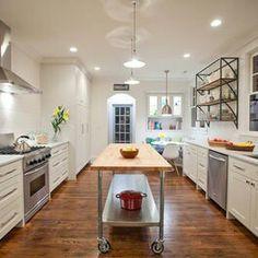 Wide Galley Kitchen All Of Windows Google Search Contemporary Kitchen Galley Kitchen Design Narrow Kitchen Island