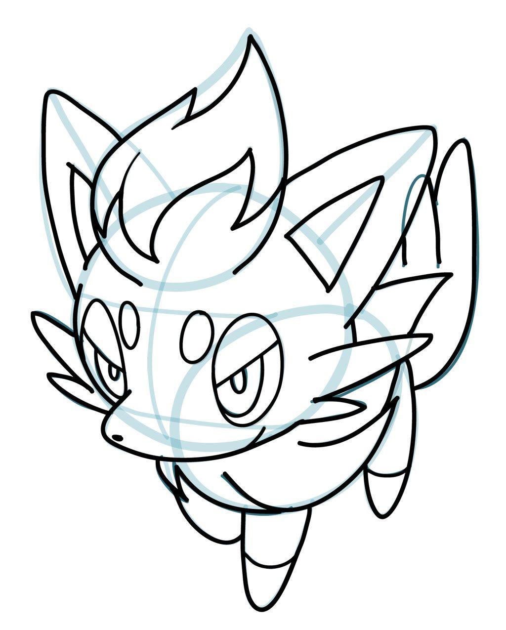 Uncategorized Draw A Pokemon how to draw zorua pokemon manga 3d drawing tips 3d