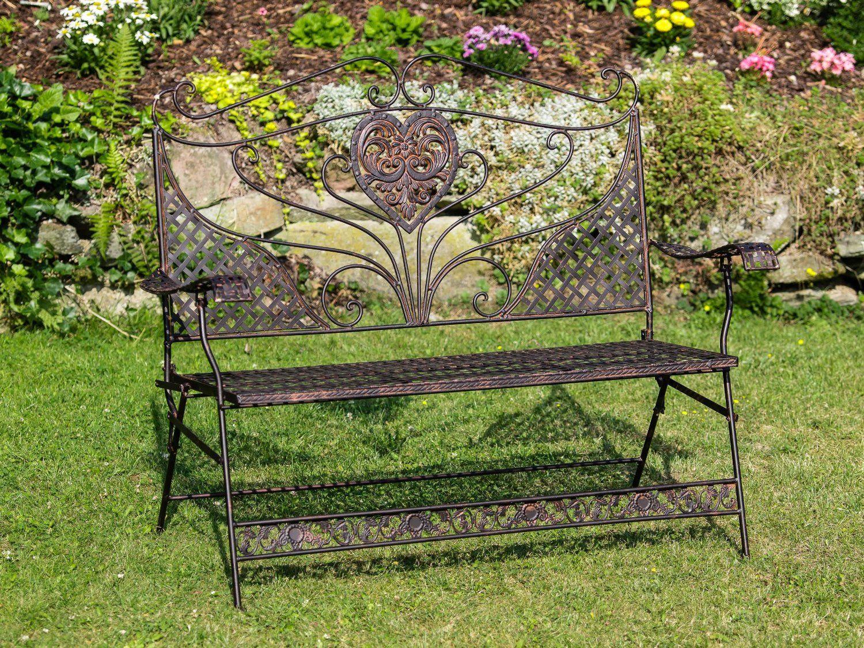 Gartenbank Eisen Braun Blumen | Eisen Gartenbank | Pinterest