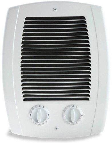 Com Pak Bath 1 000 Watt 120 240 Volt In Wall Fan Forced Heater With Timer White Bathroom Heater Wall Mounted Heater Wall Fans