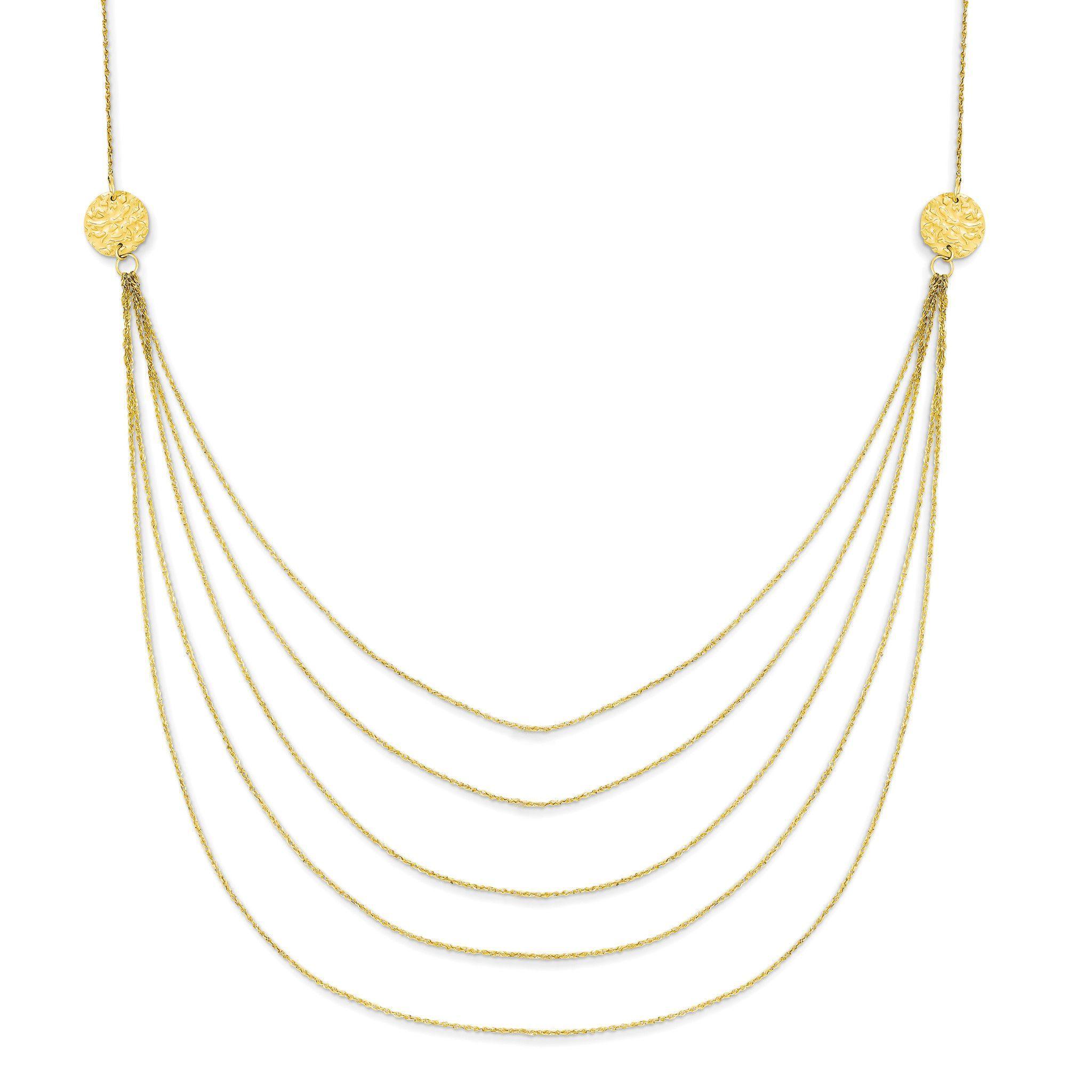 14k Five Strand Necklace