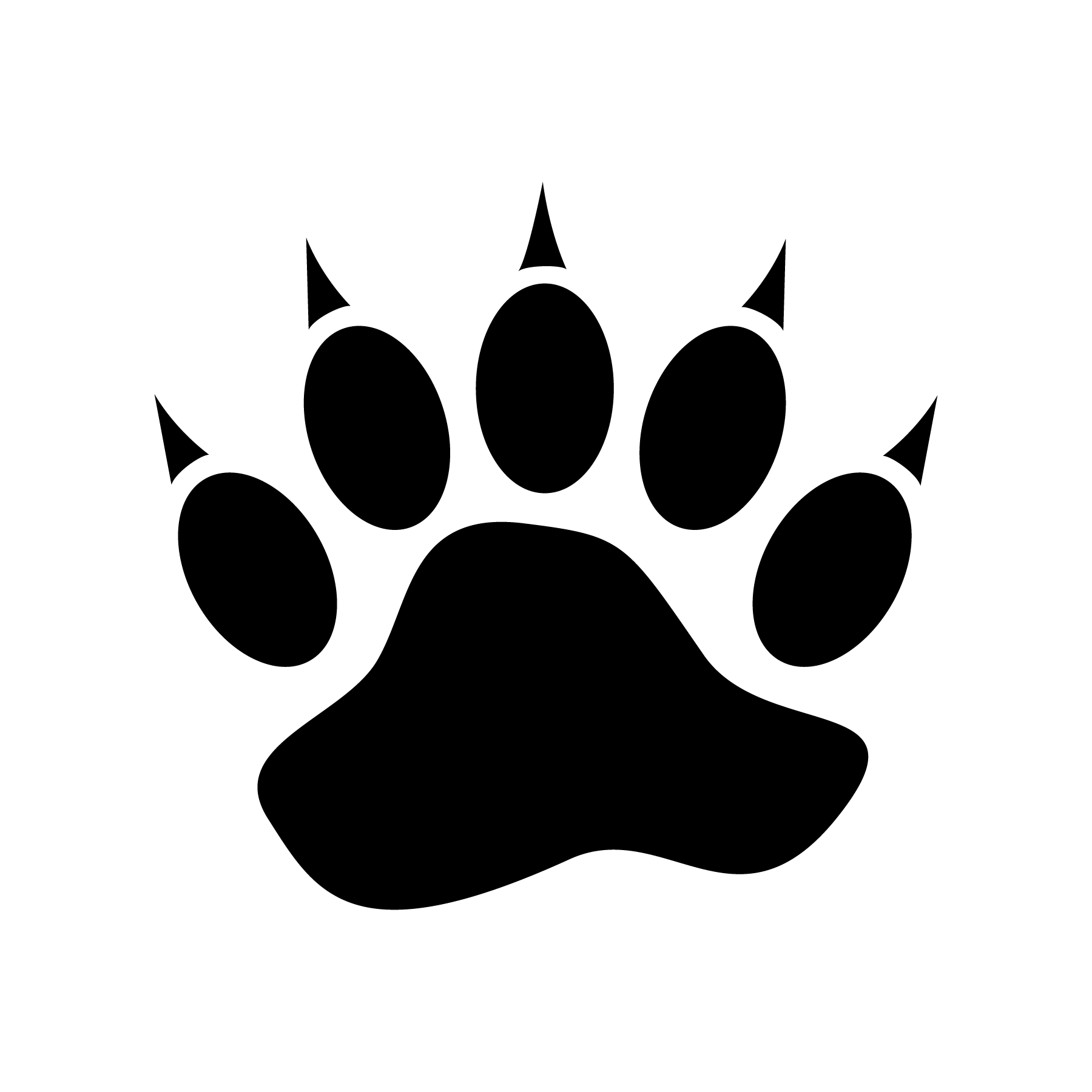 Bear Paw Print Icons Jessicabarrondesigns Design Graphicdesign Icon Icondesign Adobeillustrator Ai Fo Bear Paw Print Stencil Patterns Art Day