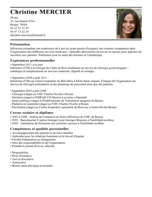Exemple De Cv Infirmiere Autorisee Exemples Modeles De Cv Cv Infirmier Exemple Cv Lettre De Motivation Infirmiere