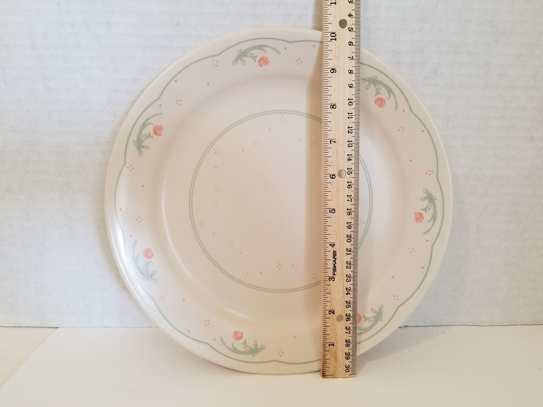 Corelle/Corning Set Of 4 Dinner Plates CALICO ROSE Pattern Green Vines And & Corning Tableware Uk u0026 7 - Comcor - Corning - White B \u0026 B ...