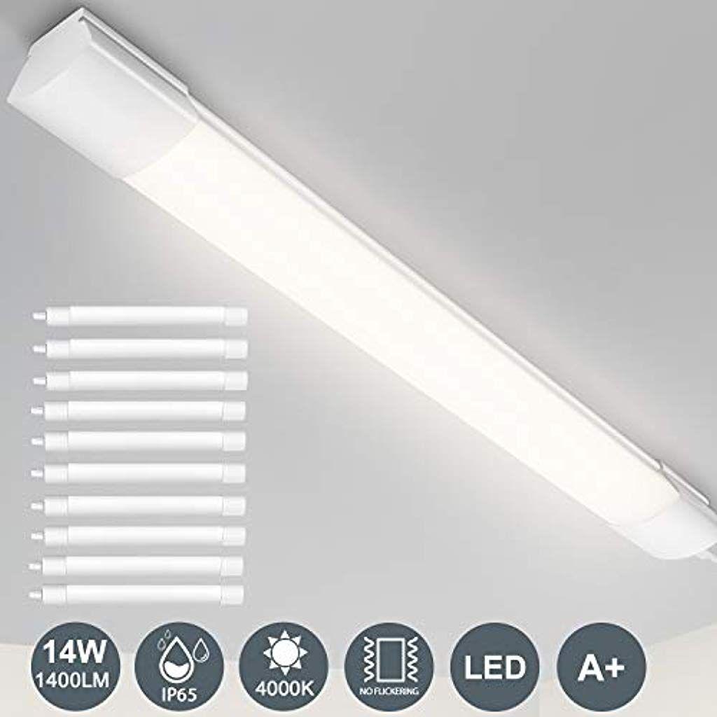 Leoeu Feuchtraumleuchte Led Ip65 Wasserdicht Werkstattlampe 60cm 14watt 1400lumen Beleuchtung Leuchtmittel Led Lampen In 2020 Werkstattlampe Deckenbeleuchtung Led
