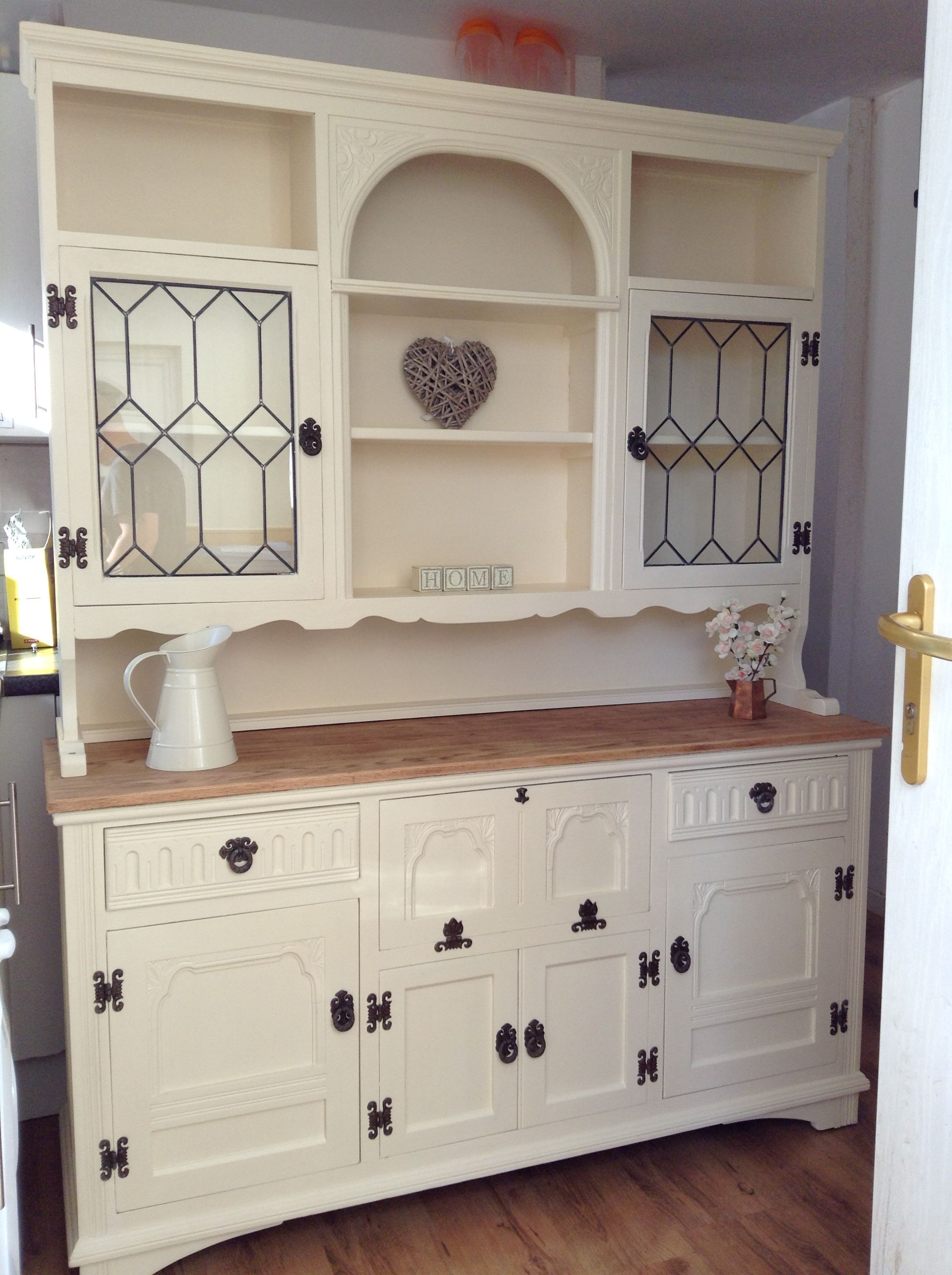 Old Charm Welsh Dresser Upcycled Using Rustoleum Clotted