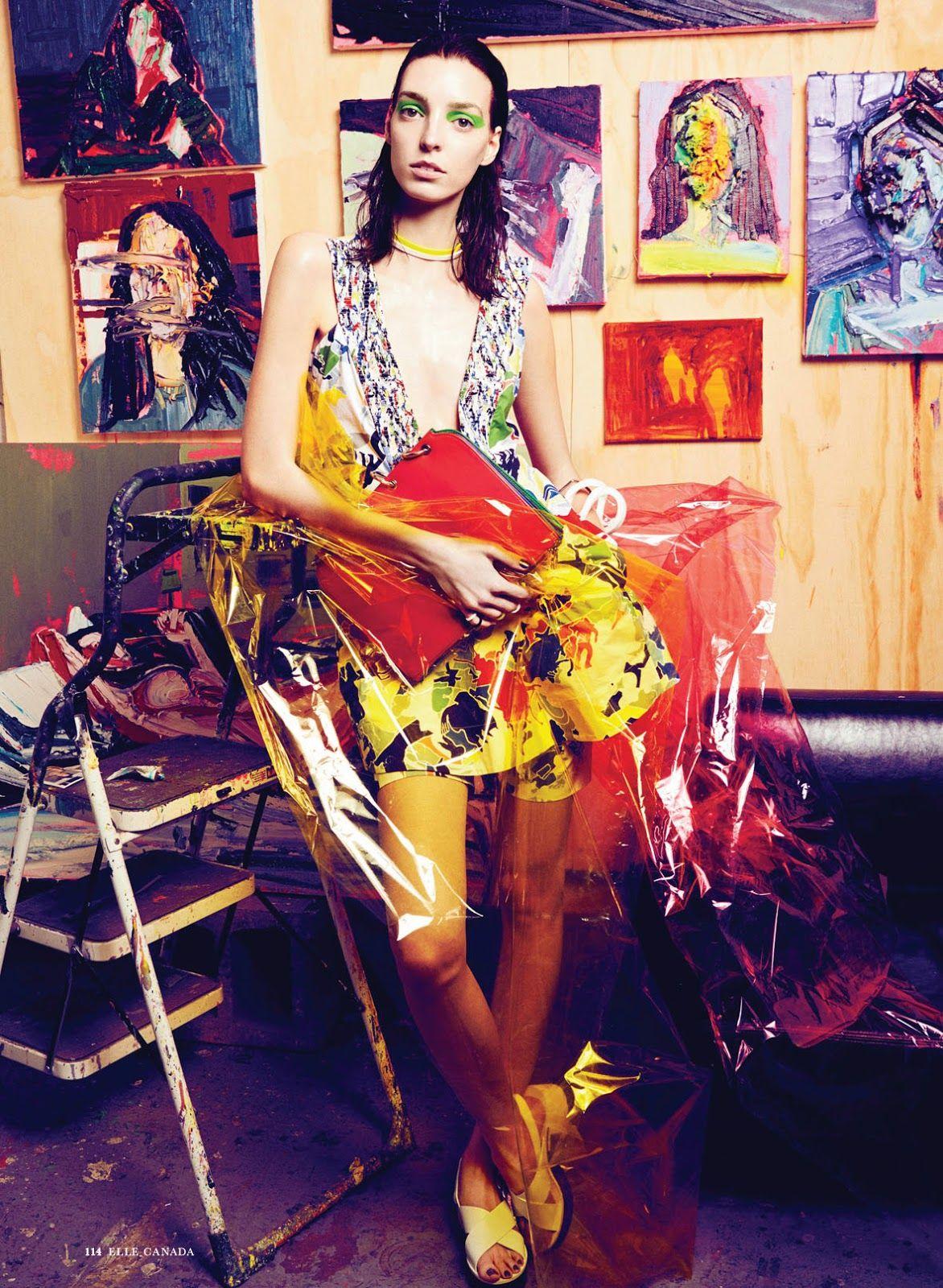 Art Studio: Djana By Max Abadian For Elle Canada May 2014
