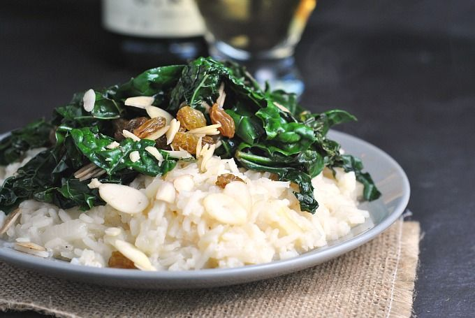Sweet Onion Risotto with Sauteed Kale 2
