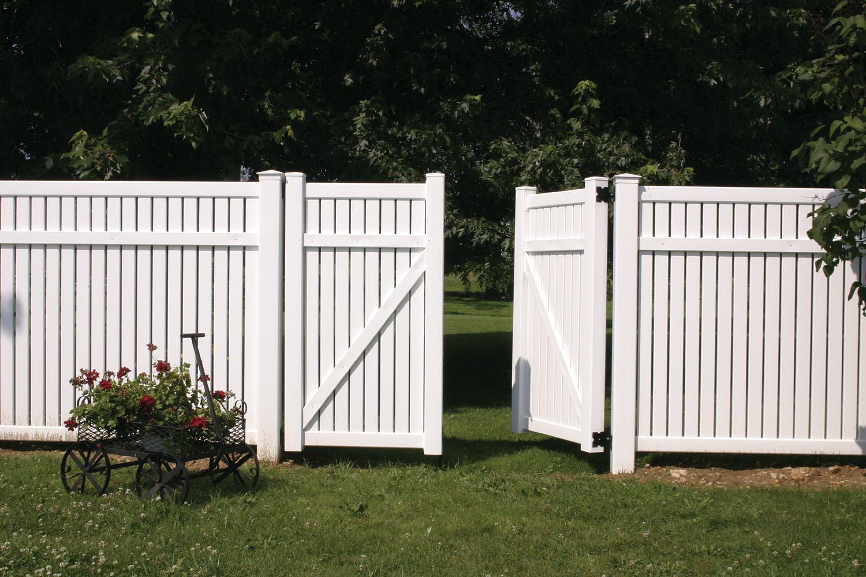 White Vinyl Fence Boards Pvc Wpc Backyard