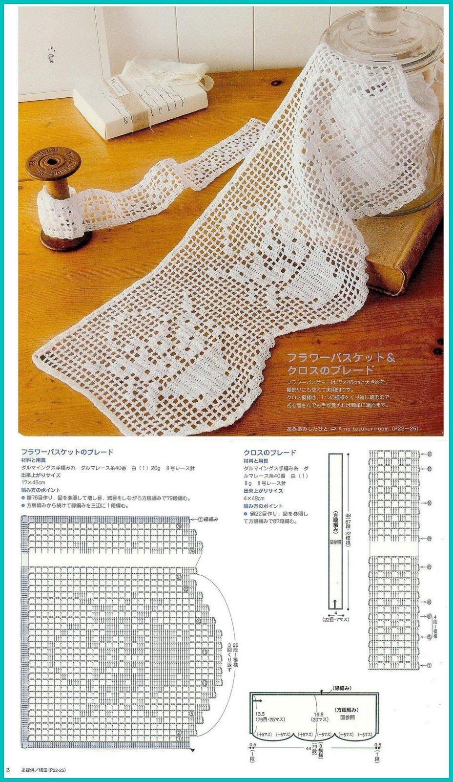 Szydełkomania: Koronki | Crochet | Pinterest | Ganchillo, Cortinas y ...