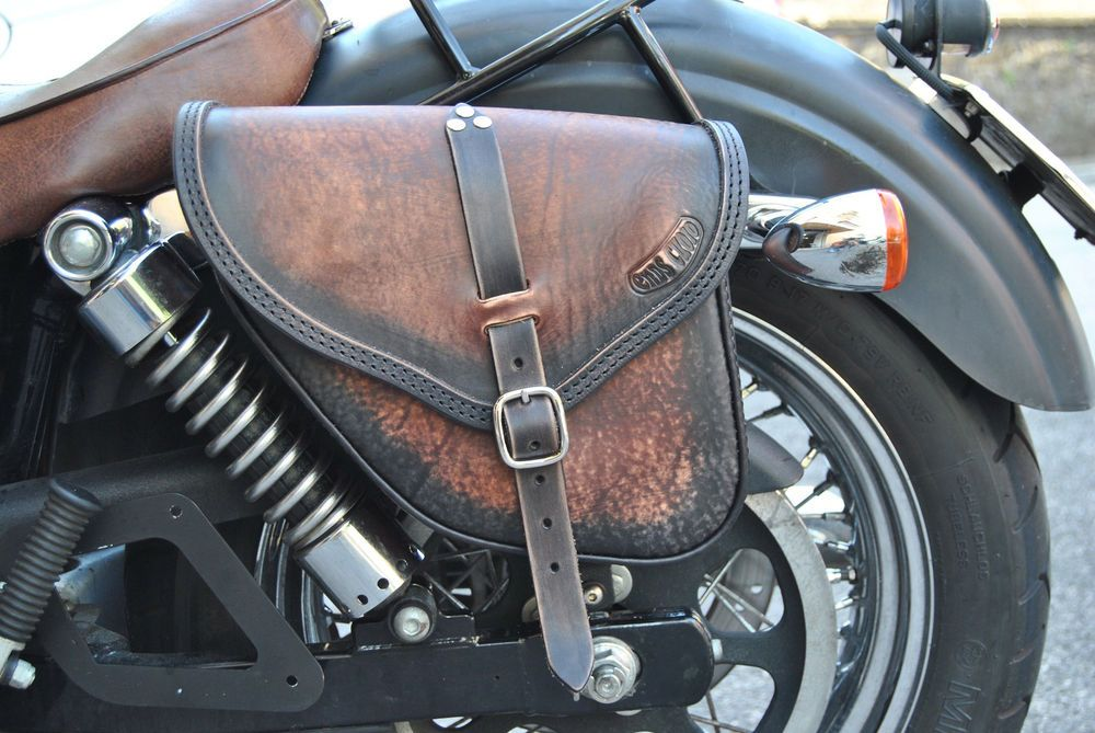 Saddle bags left&right for harley davidson dyna street bob fat bob