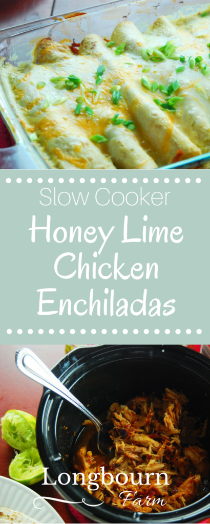 Honey Lime Chicken Enchiladas • Longbourn Farm #honeylimechicken