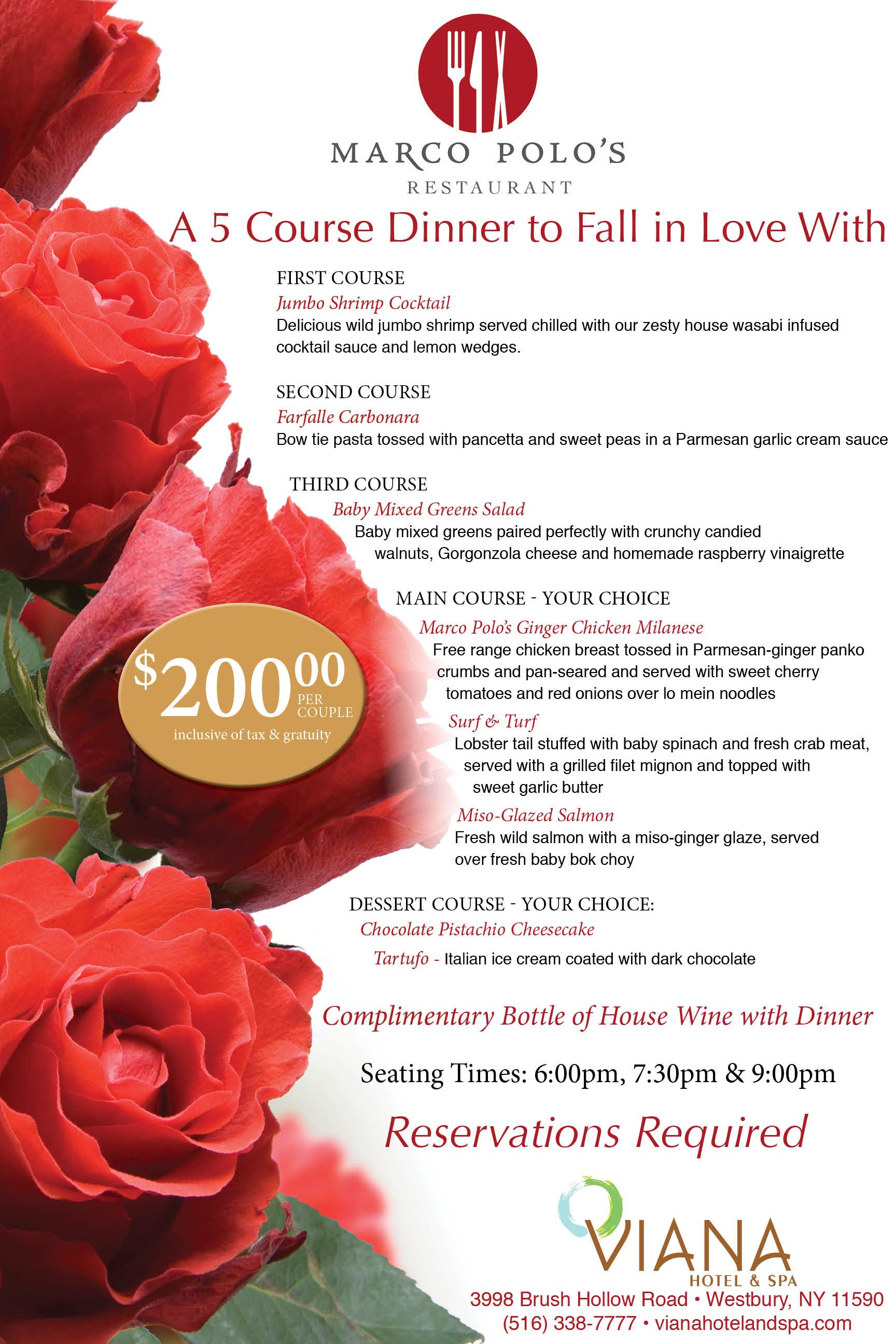 Valentines 5 Course Dinner For Two At Viana Hotel And Spa In Marco Polo S Restaurant Valentines Food Dinner Valentines Day Dinner 5 Course Meal